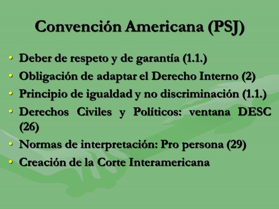 Convención Americana (PSJ)