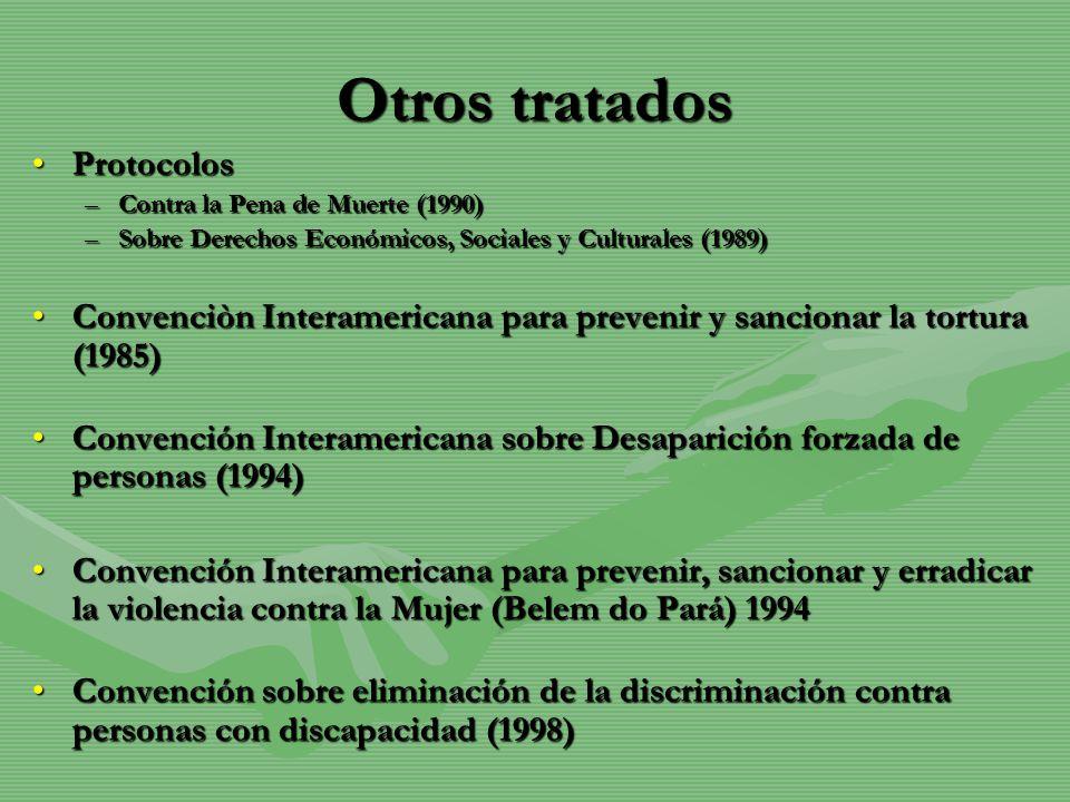 Otros tratados Protocolos
