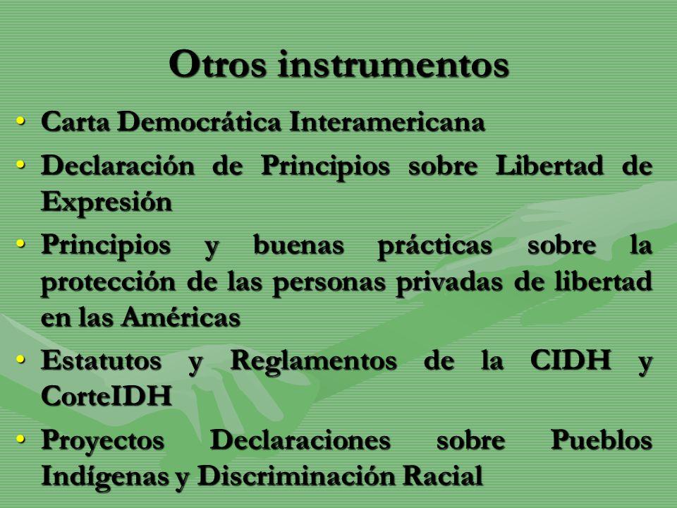Otros instrumentos Carta Democrática Interamericana