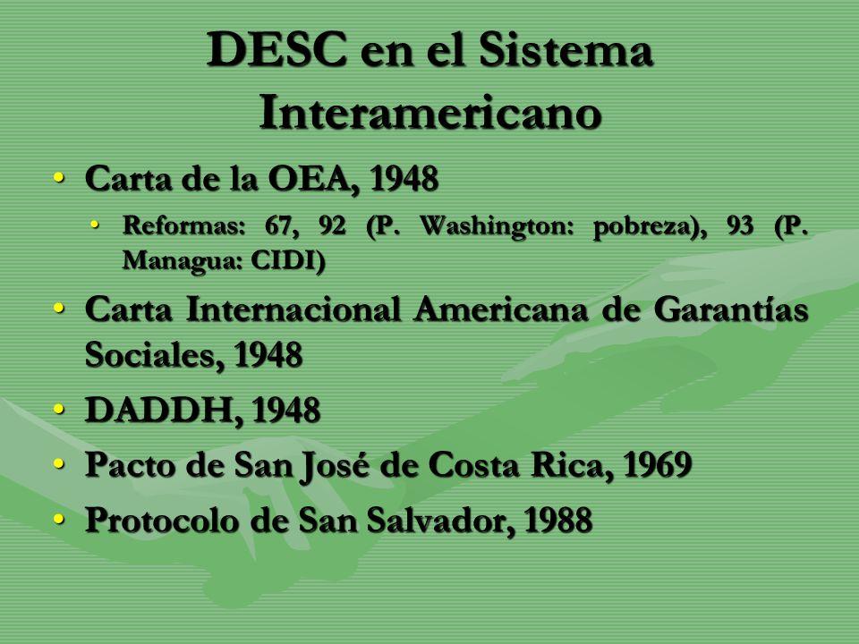 DESC en el Sistema Interamericano
