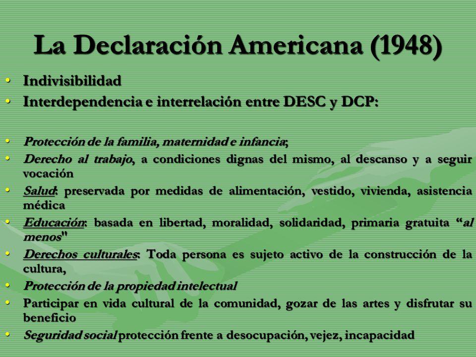 La Declaración Americana (1948)