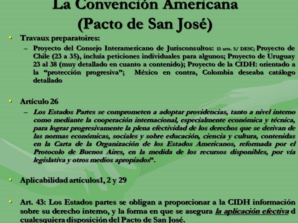 La Convención Americana (Pacto de San José)
