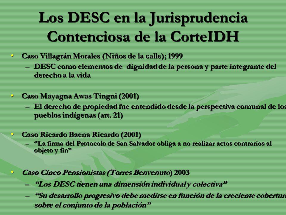 Los DESC en la Jurisprudencia Contenciosa de la CorteIDH