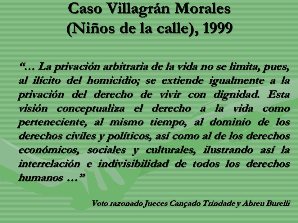 Caso Villagrán Morales (Niños de la calle), 1999