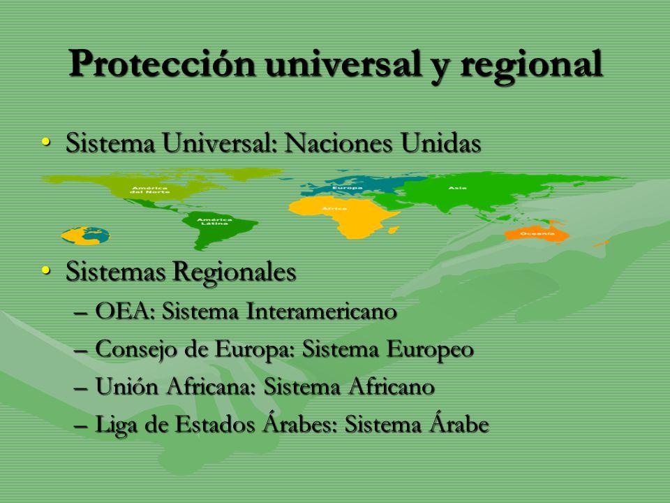 Protección universal y regional