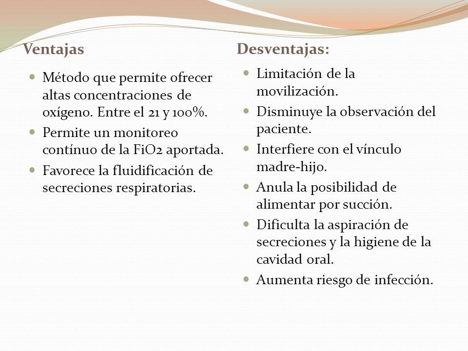 Ventajas Desventajas: Limitación de la movilización.