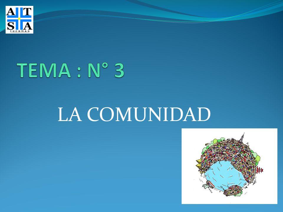 TEMA : N° 3 LA COMUNIDAD
