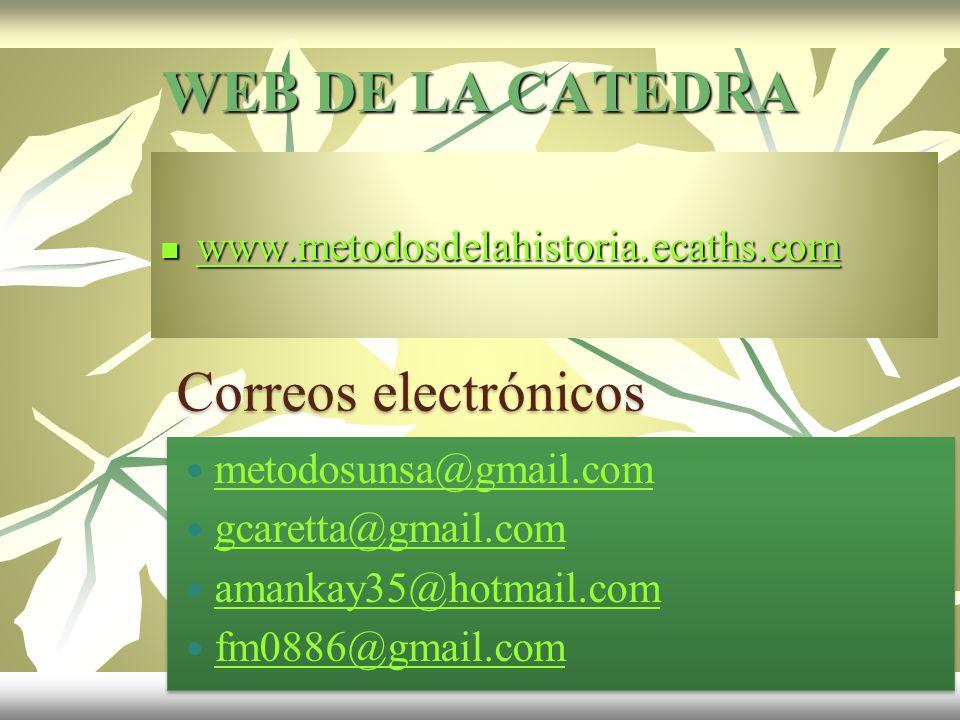 WEB DE LA CATEDRA Correos electrónicos
