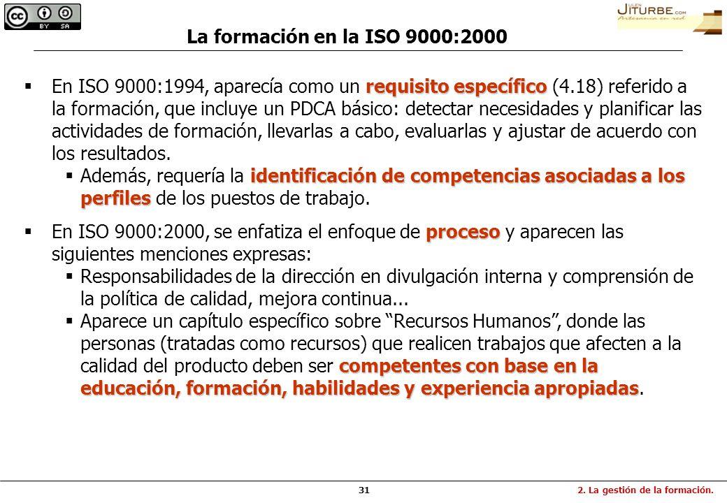 La formación en la ISO 9000:2000