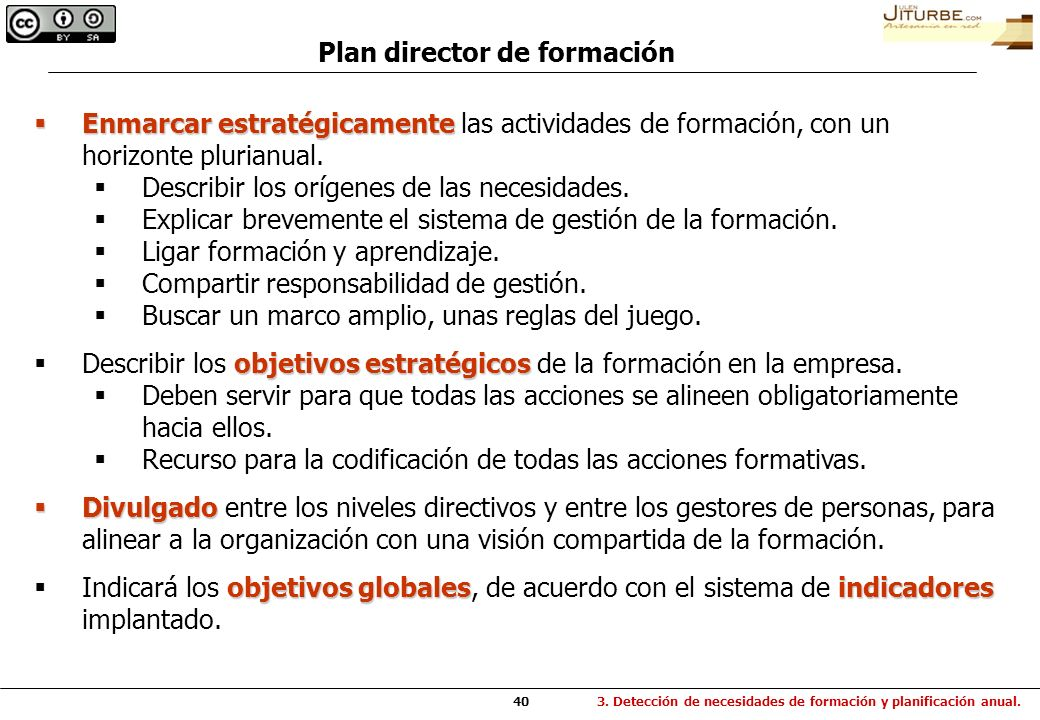 Plan director de formación
