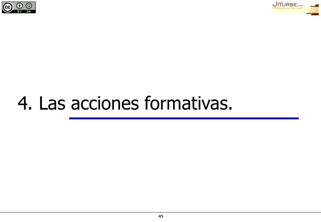 4. Las acciones formativas.