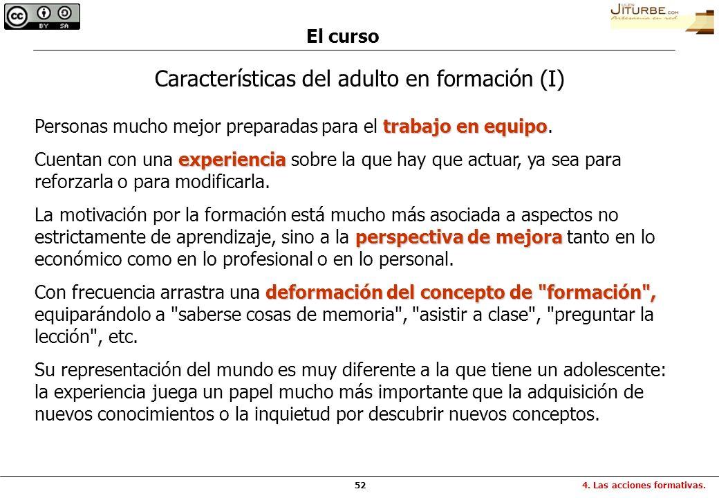 Características del adulto en formación (I)