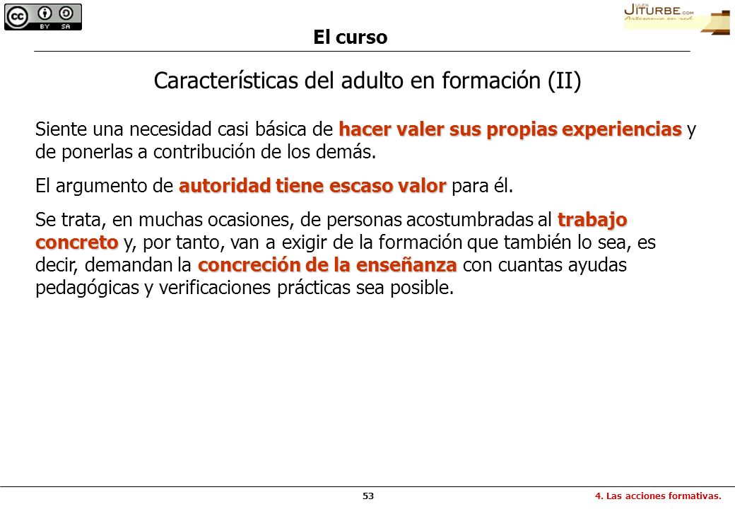 Características del adulto en formación (II)