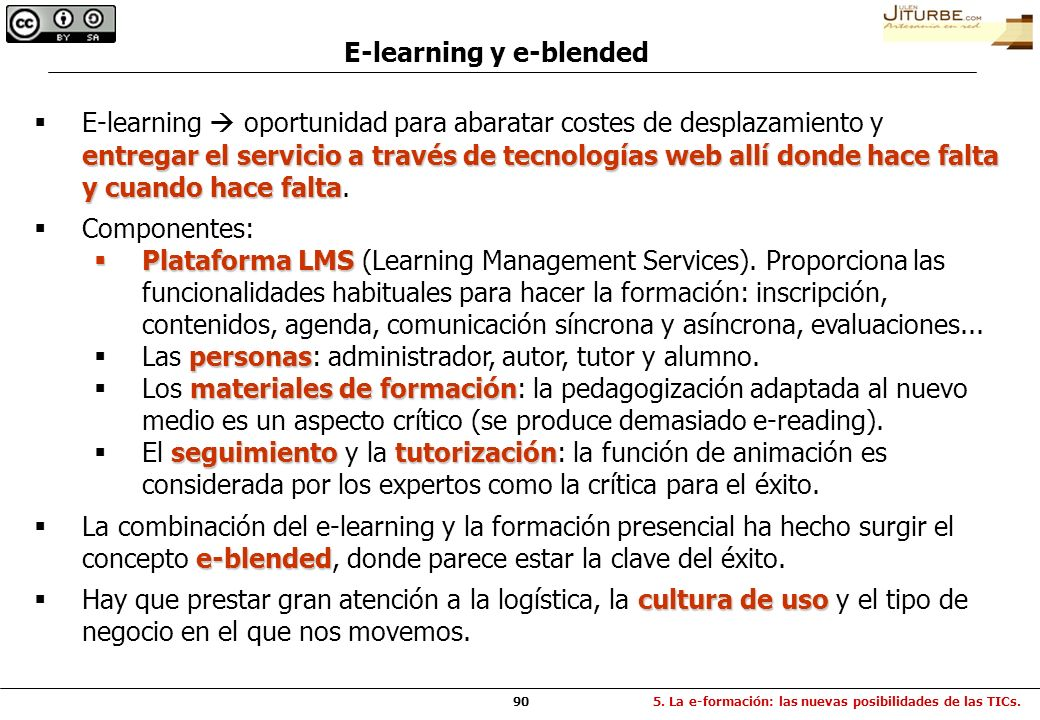 E-learning y e-blended