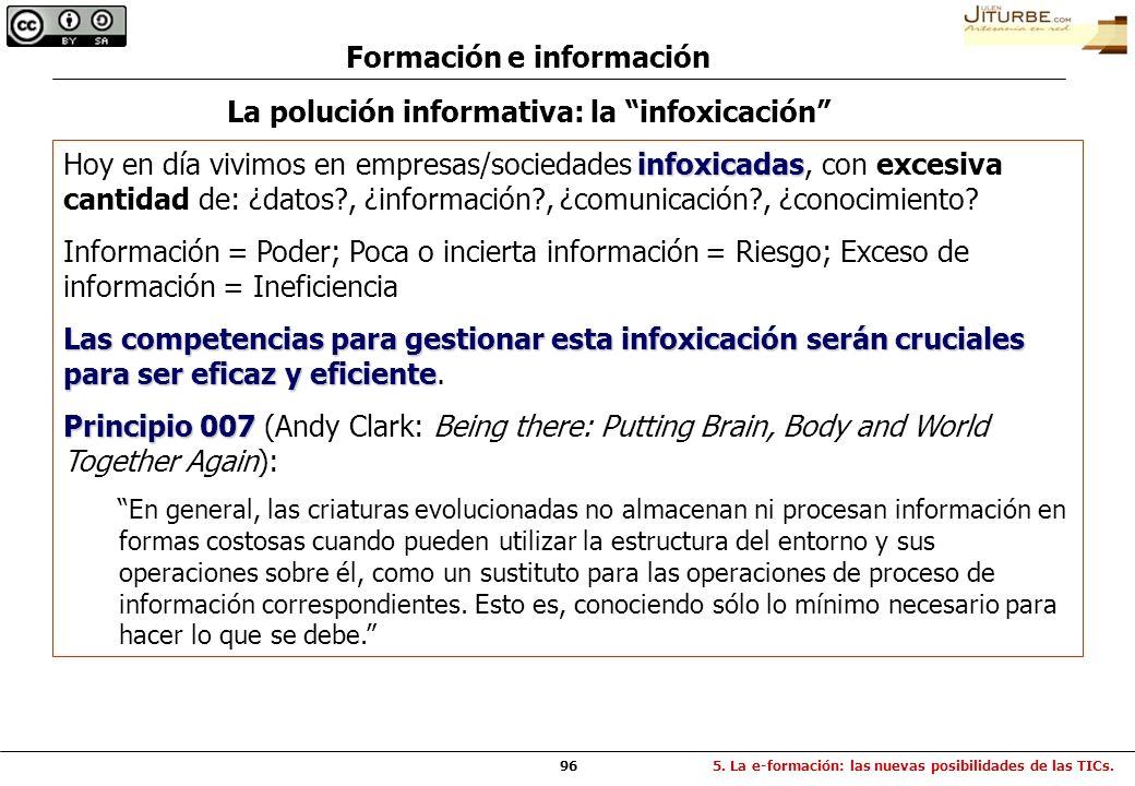 Formación e información La polución informativa: la infoxicación