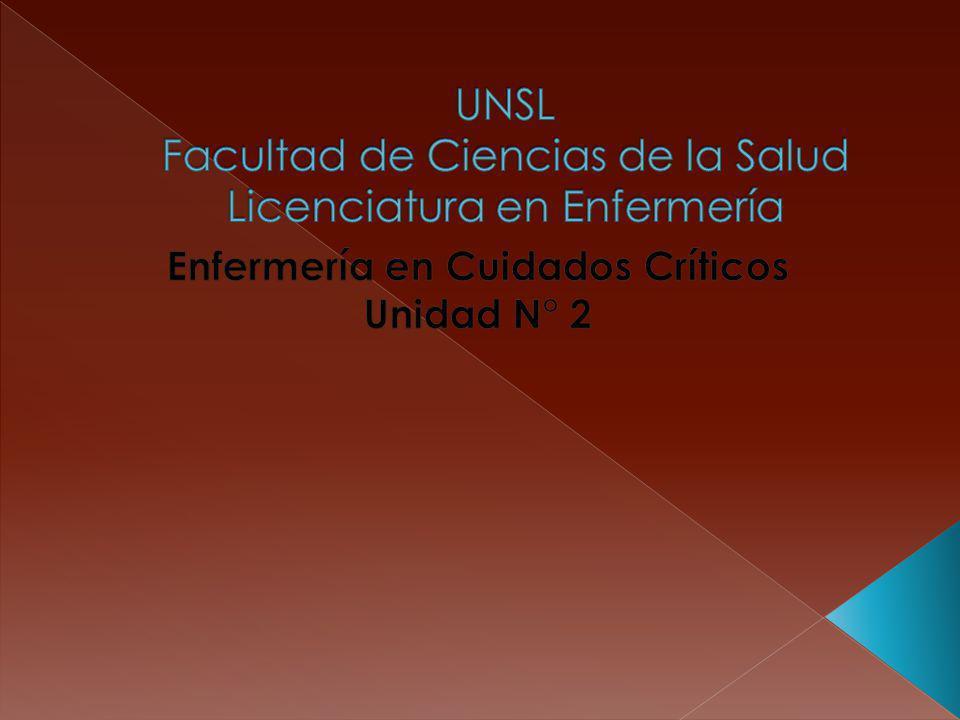 UNSL Facultad de Ciencias de la Salud Licenciatura en Enfermería