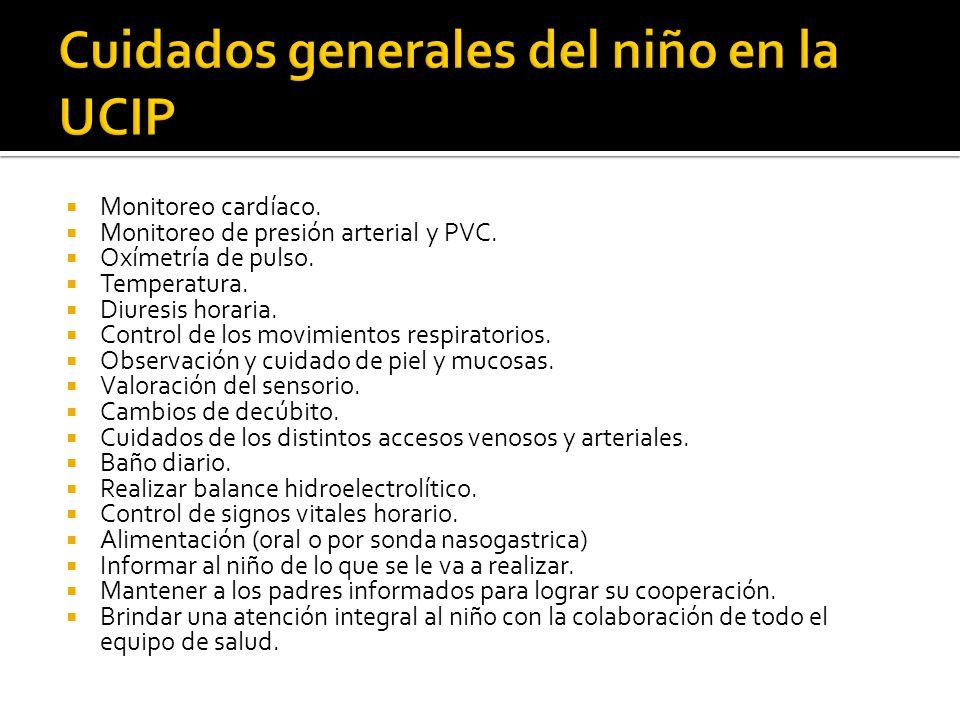 Cuidados generales del niño en la UCIP