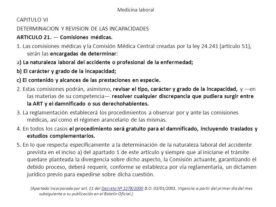 DETERMINACION Y REVISION DE LAS INCAPACIDADES