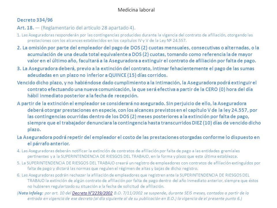 Art. 18. — (Reglamentario del artículo 28 apartado 4).