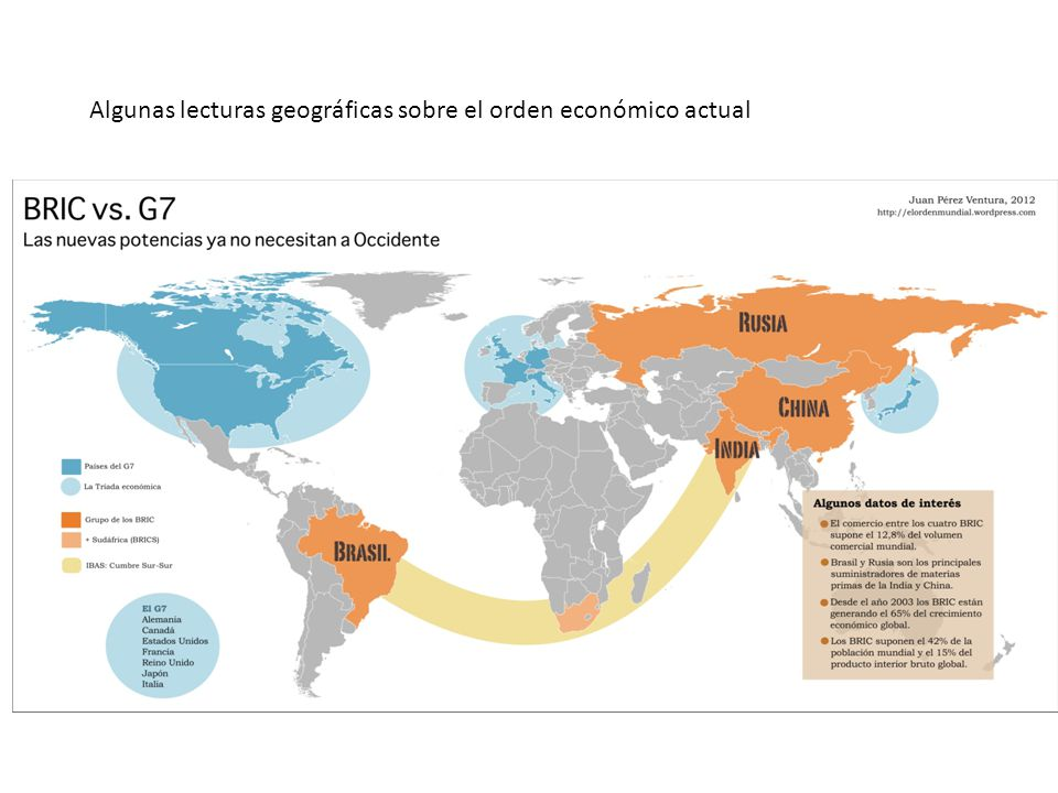 Algunas lecturas geográficas sobre el orden económico actual