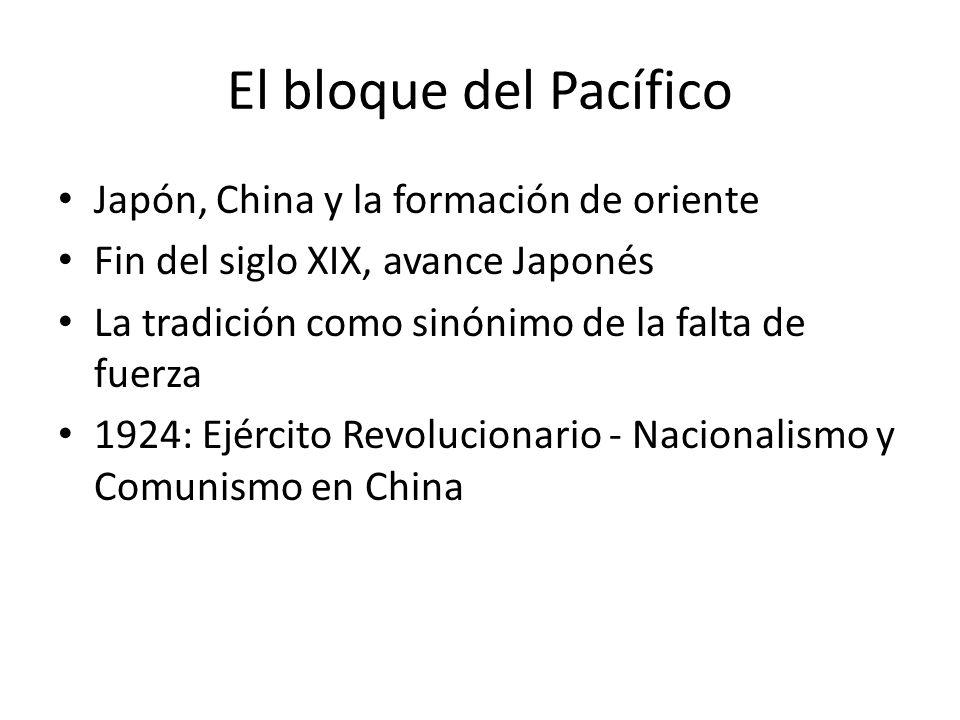 El bloque del Pacífico Japón, China y la formación de oriente