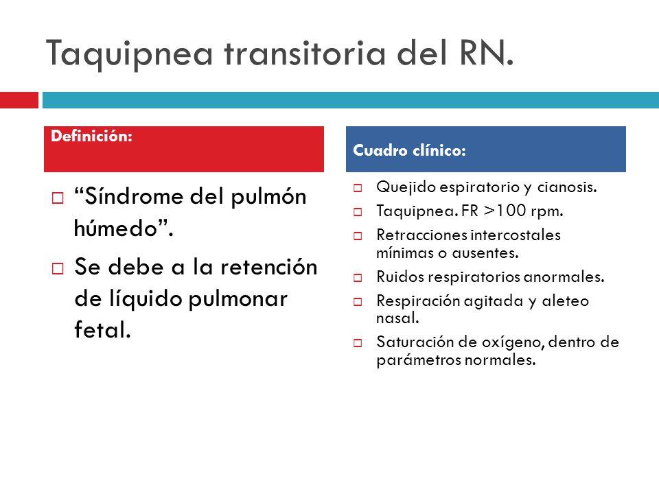 Taquipnea transitoria del RN.