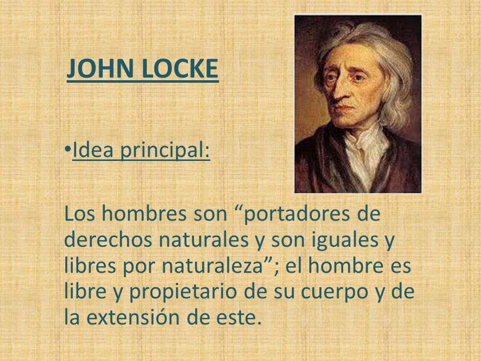 JOHN LOCKE Idea principal: