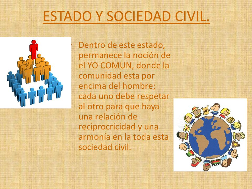 ESTADO Y SOCIEDAD CIVIL.