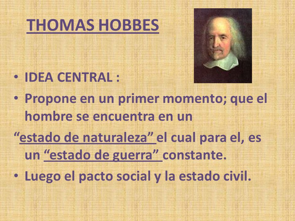 thomas Hobbes IDEA CENTRAL :