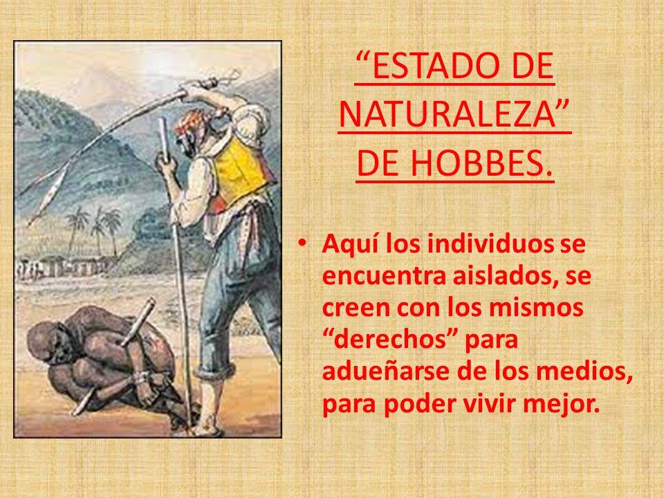 ESTADO DE NATURALEZA DE HOBBES.