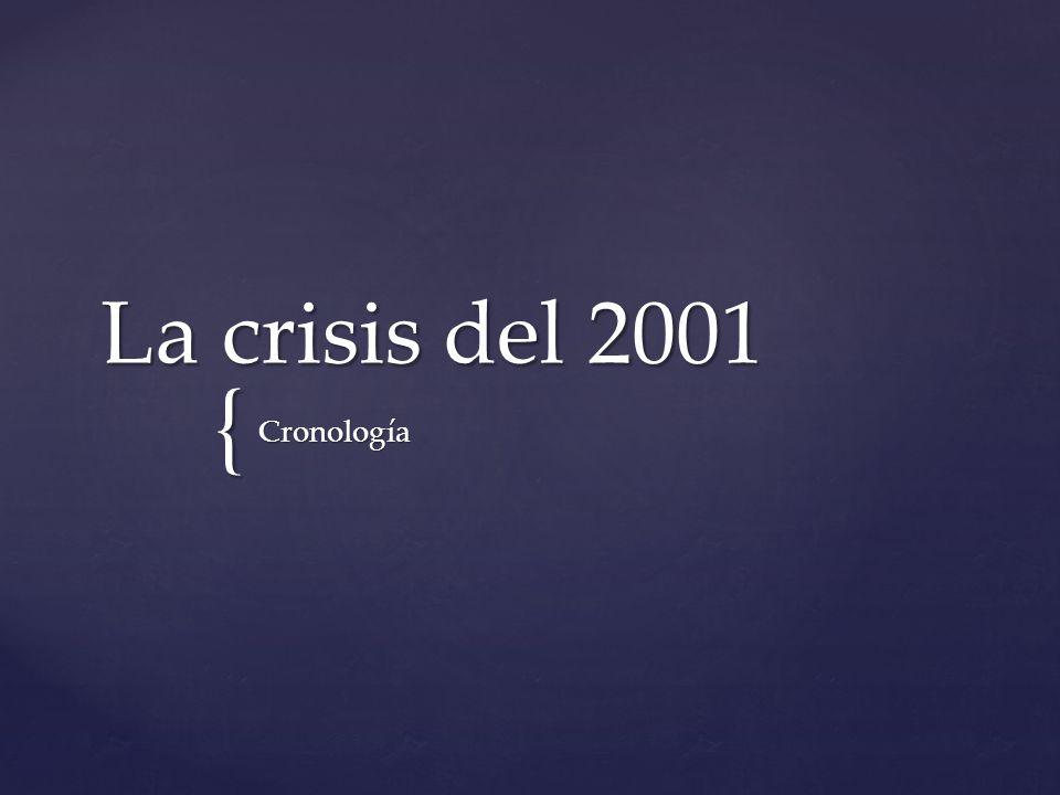 La crisis del 2001 Cronología