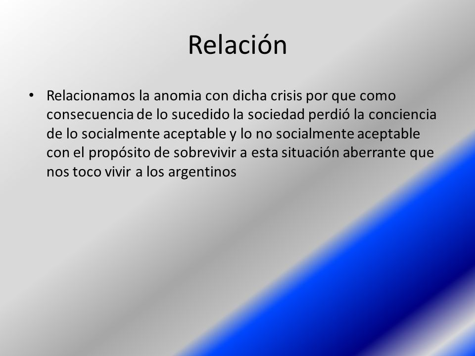 Relación