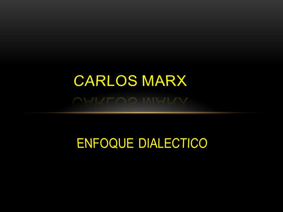 carlos marx ENFOQUE DIALECTICO