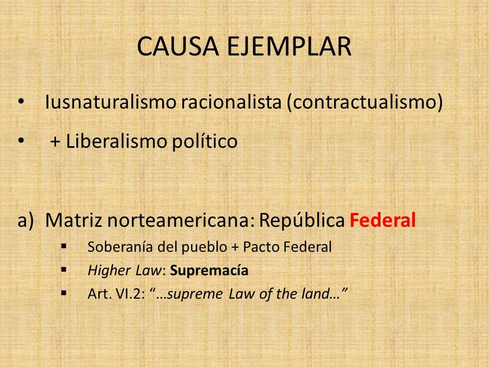 CAUSA EJEMPLAR Iusnaturalismo racionalista (contractualismo)