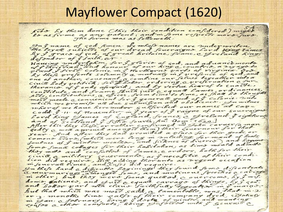 Mayflower Compact (1620)