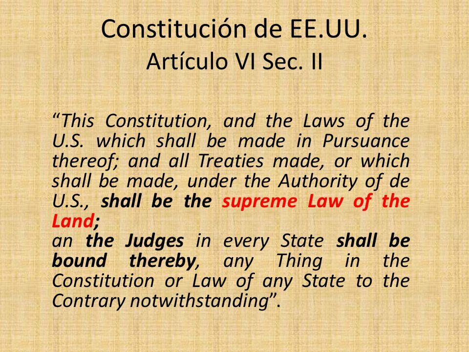Constitución de EE.UU. Artículo VI Sec. II