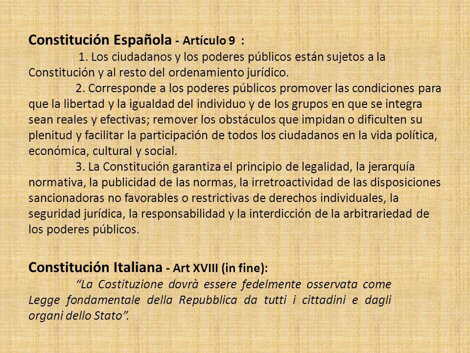 Constitución Española - Artículo 9 :