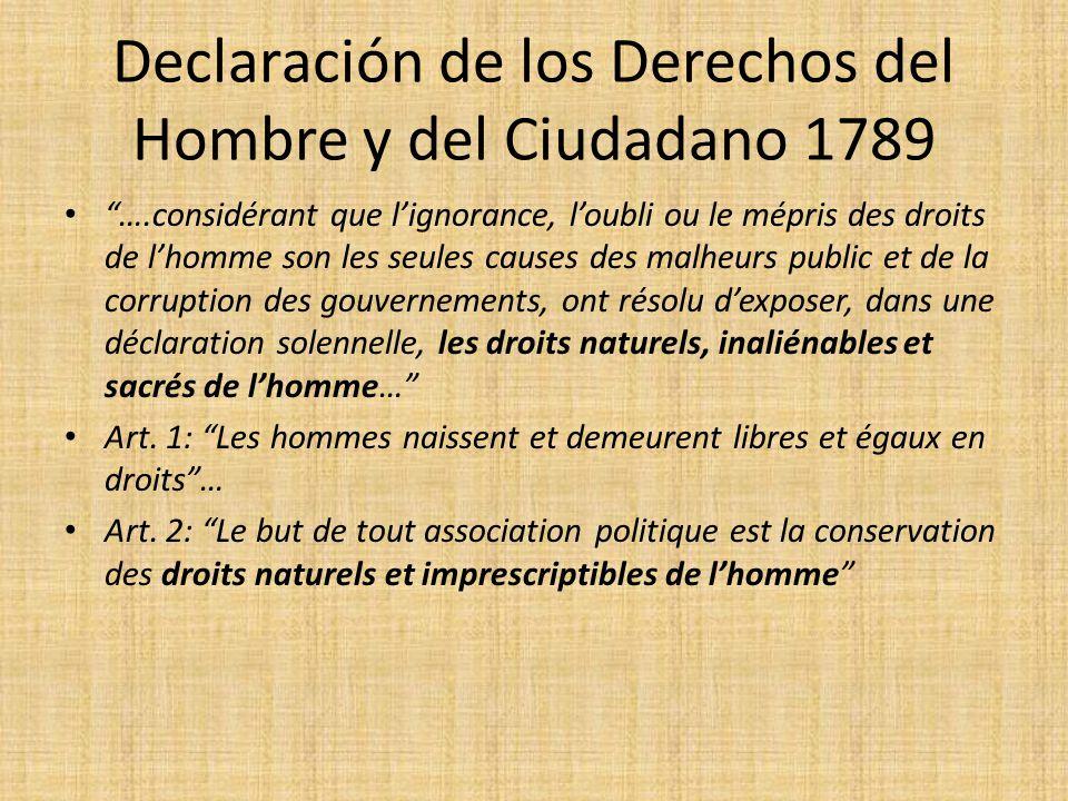 Declaración de los Derechos del Hombre y del Ciudadano 1789