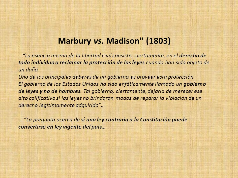 Marbury vs. Madison (1803)