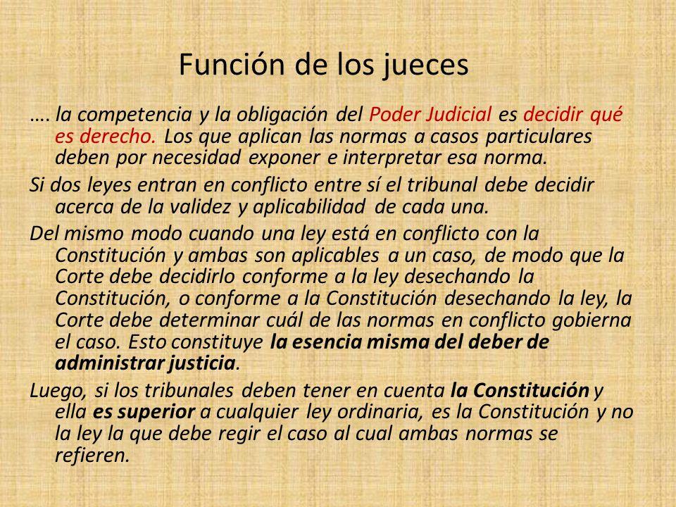 Función de los jueces
