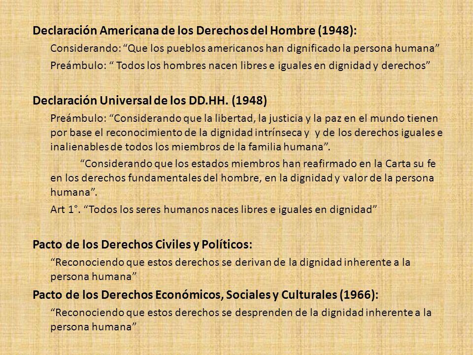 Declaración Americana de los Derechos del Hombre (1948):