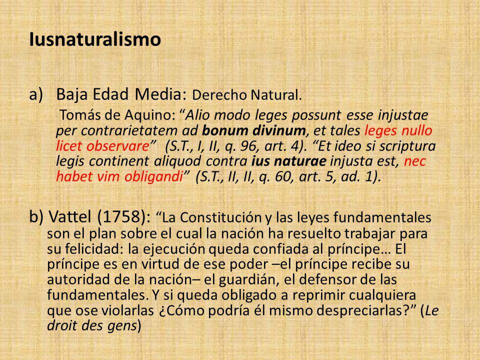 Iusnaturalismo Baja Edad Media: Derecho Natural.