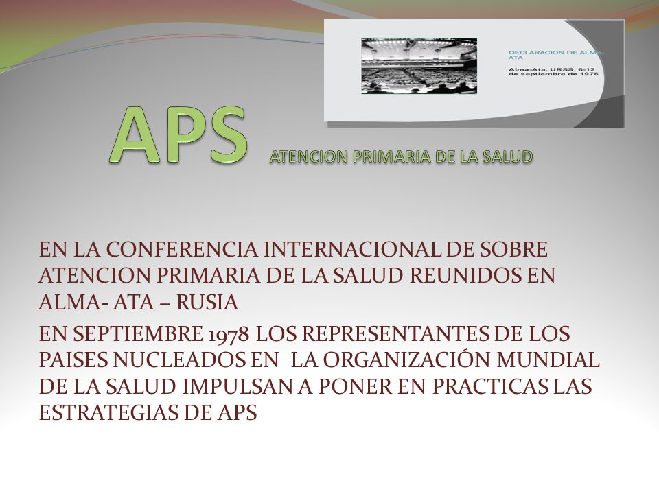 APS ATENCION PRIMARIA DE LA SALUD