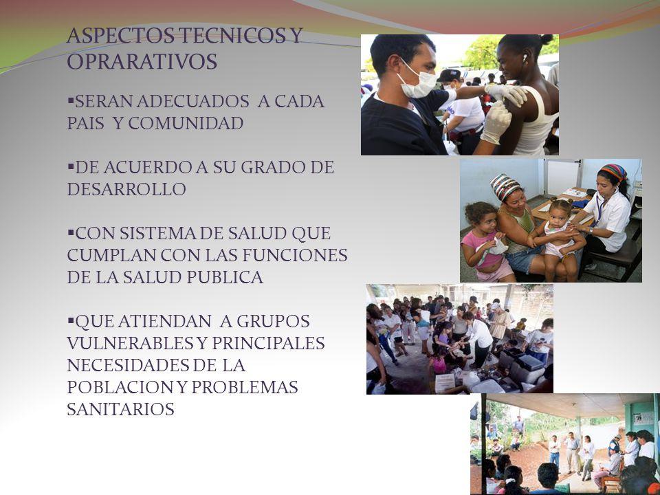 ASPECTOS TECNICOS Y OPRARATIVOS