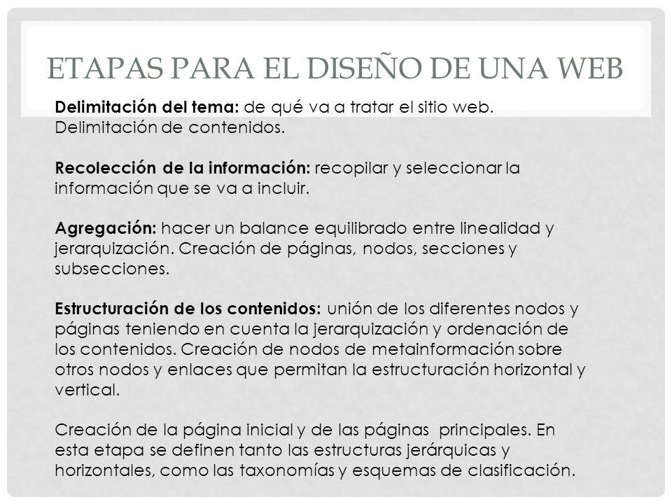 Etapas para el diseño de una web