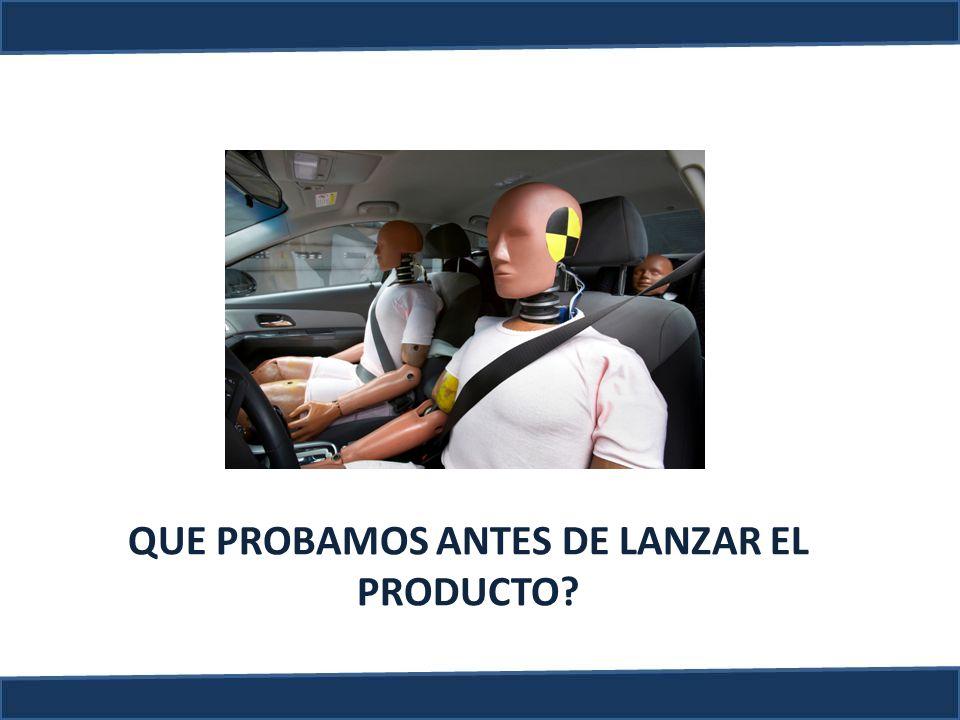 QUE PROBAMOS ANTES DE LANZAR EL PRODUCTO