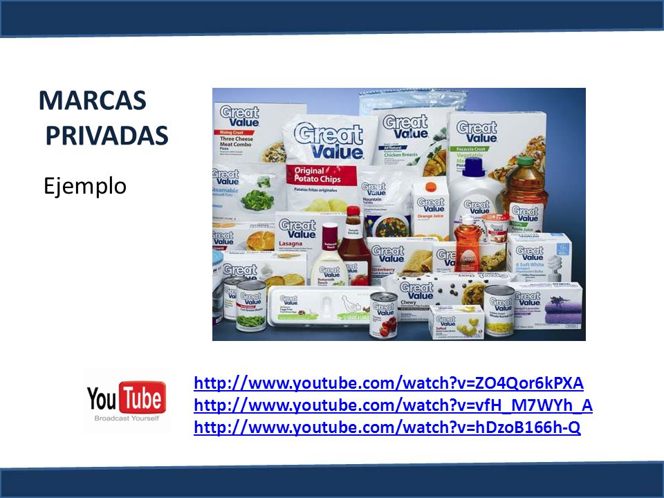 MARCAS PRIVADAS Ejemplo http://www.youtube.com/watch v=ZO4Qor6kPXA