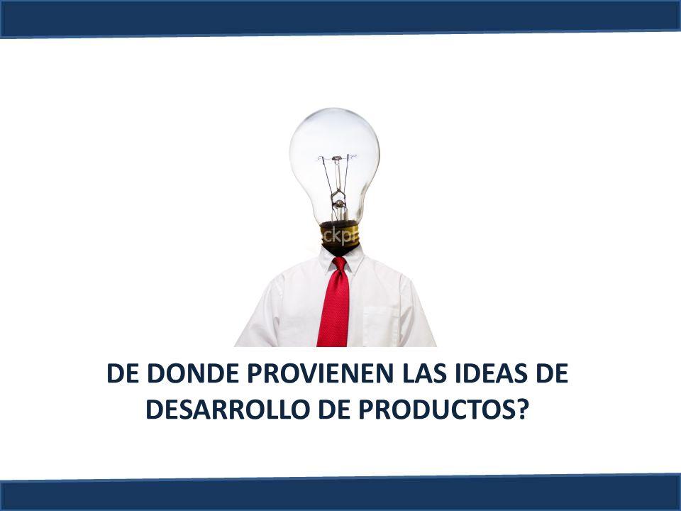 DE DONDE PROVIENEN LAS IDEAS DE DESARROLLO DE PRODUCTOS