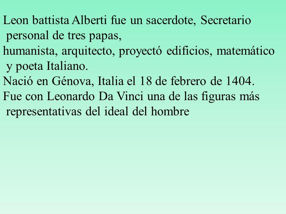 Leon battista Alberti fue un sacerdote, Secretario