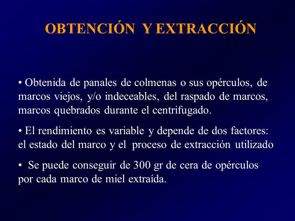 OBTENCIÓN Y EXTRACCIÓN